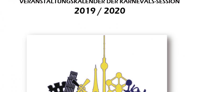 Die Veranstaltungen aller Karnevalsgesellschaften in der Session 2019/20