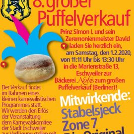 8. großer Puffelverkauf am 01.02.2020 vor der Bäckerei Nobis, Marienstraße